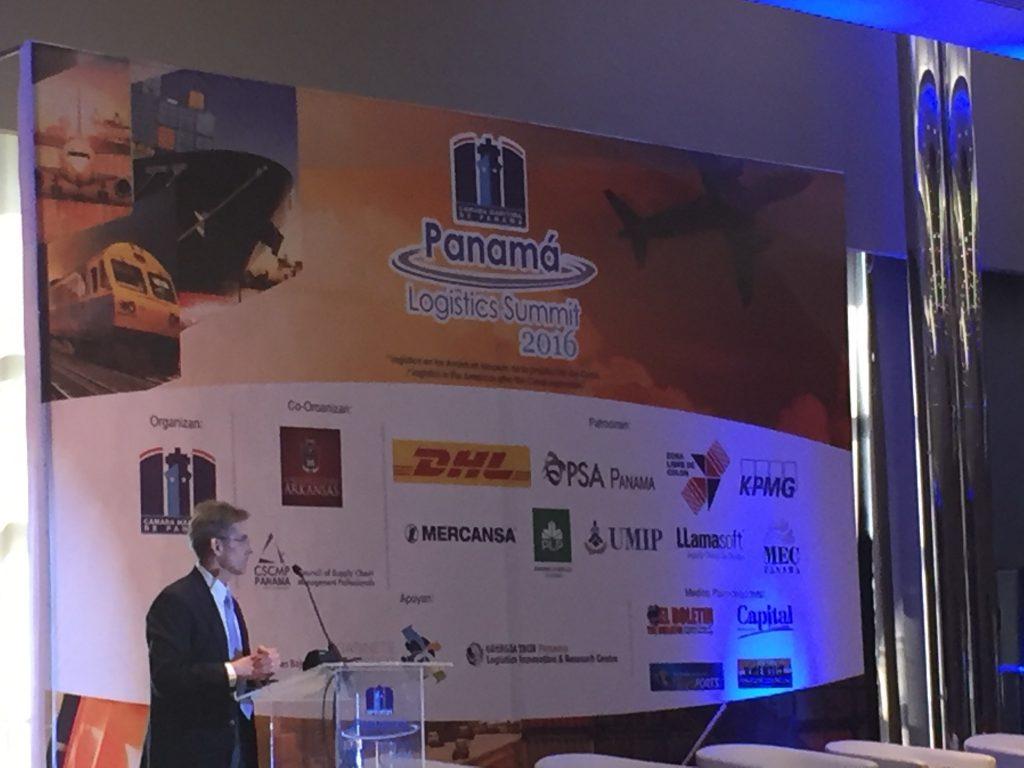 Allen Gina Speaks at 2016 Panama Logistics Summit